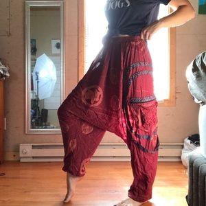Pants - Patterned Boho Hippy Harem Pants